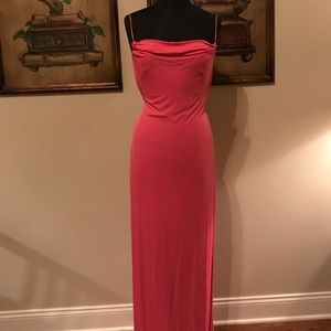 NWOT LAUNDRY bubblegum pink full length dress!